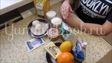 Медовик на кефире с цитрусовым кремом - шаг 1