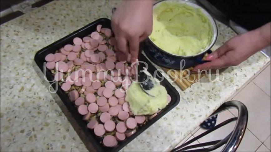 Картофельная запеканка с сосисками и грибами - шаг 5
