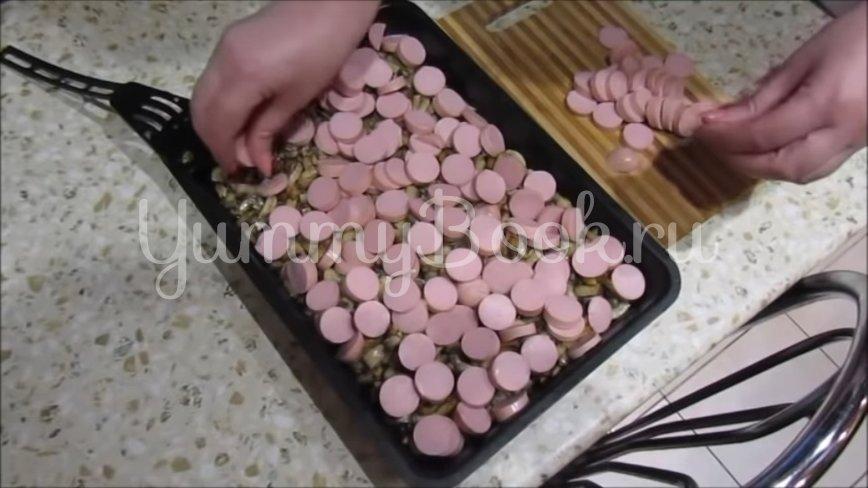 Картофельная запеканка с сосисками и грибами - шаг 4