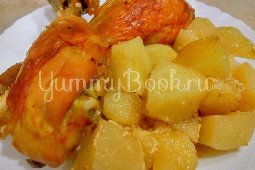Сочная курица с картошкой в духовке