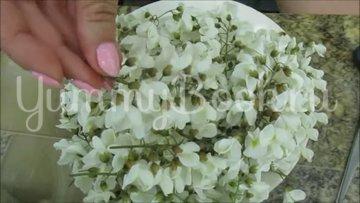 Варенье из цветков белой акации с лимоном (акациевый мёд) - шаг 1