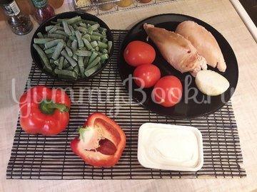 Салат со стручковой фасолью и копчёной грудкой - шаг 1
