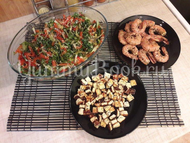 Салат с лангустинами и адыгейским сыром - шаг 5