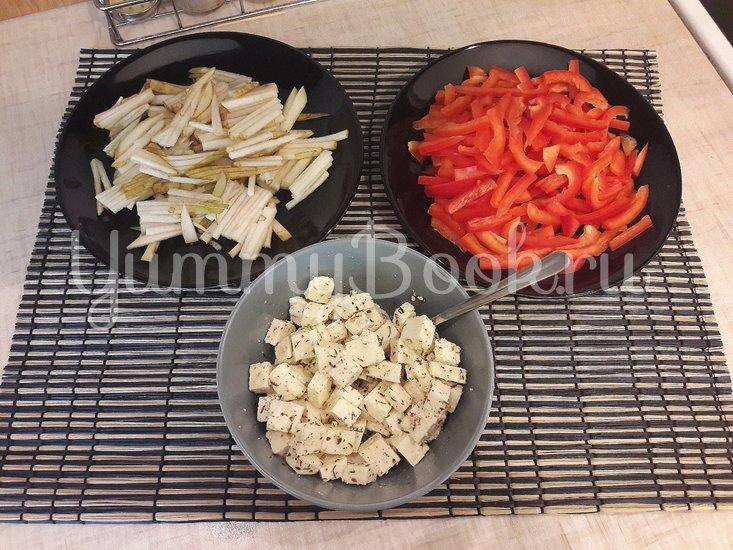 Салат с лангустинами и адыгейским сыром - шаг 3