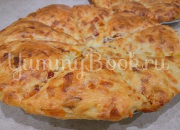 Сконы с сыром и колбасой - шаг 9