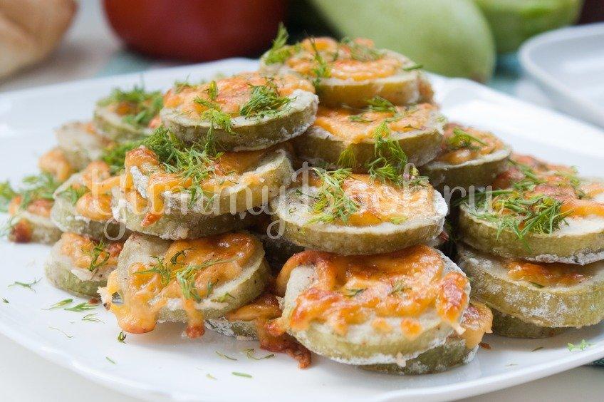 Кабачки с сыром запечённые в духовке