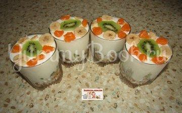 Сметанный десерт с фруктами  - шаг 6