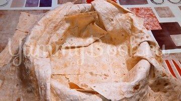 Ленивый пирог из лаваша с капустой и мясом - шаг 3