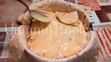 Ленивый пирог из лаваша с капустой и мясом - шаг 4