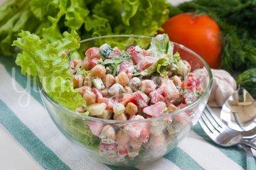 Овощной салат с нутом - шаг 8