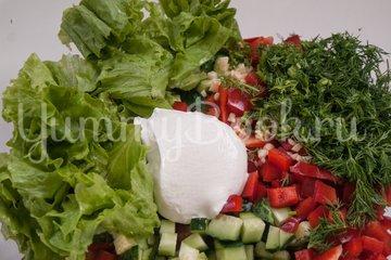 Овощной салат с нутом - шаг 6