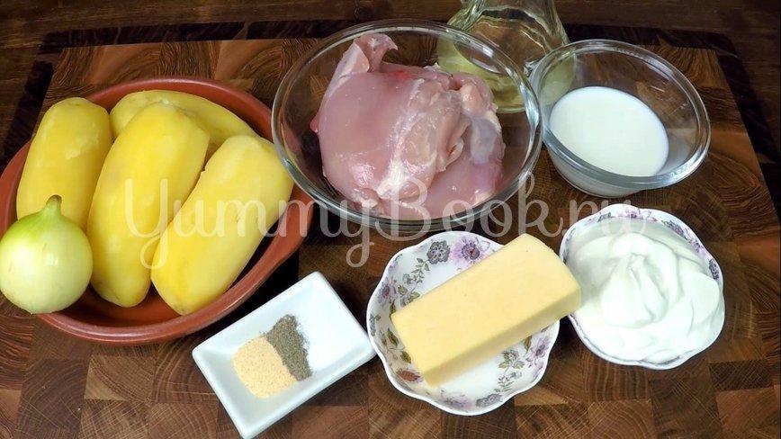 Куриное филе бедра с картофелем в соусе - шаг 1