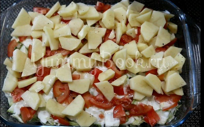 Овощная запеканка с курицей в духовке - шаг 8