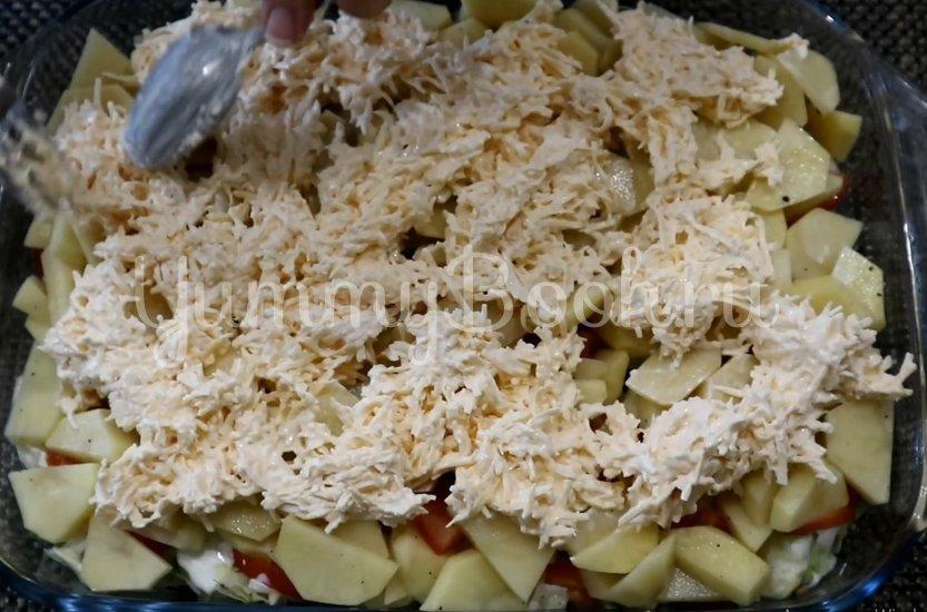Овощная запеканка с курицей в духовке - шаг 9