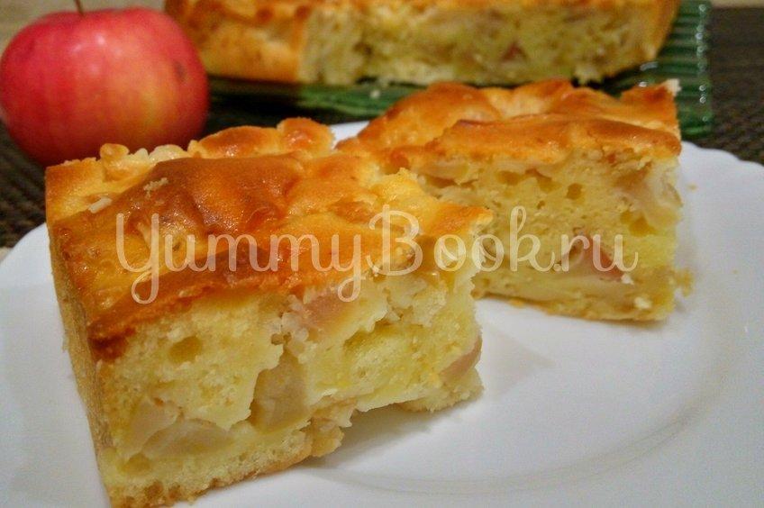 Мега яблочный пирог на кефире