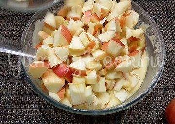 Мега яблочный пирог на кефире - шаг 3