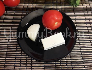 Салат из феты и помидоров - шаг 1