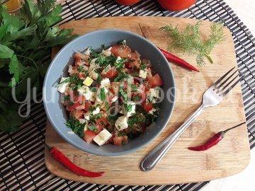 Салат из феты и помидоров - шаг 4