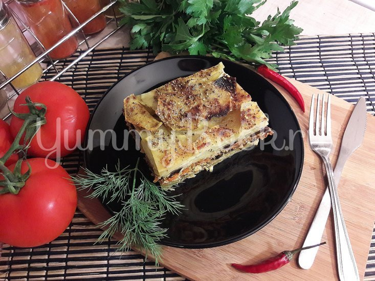 Картофельно-куриная запеканка с черносливом - шаг 14