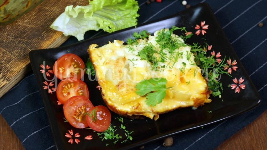 Слоеная Картофельная запеканка с ветчиной и сыром - шаг 9