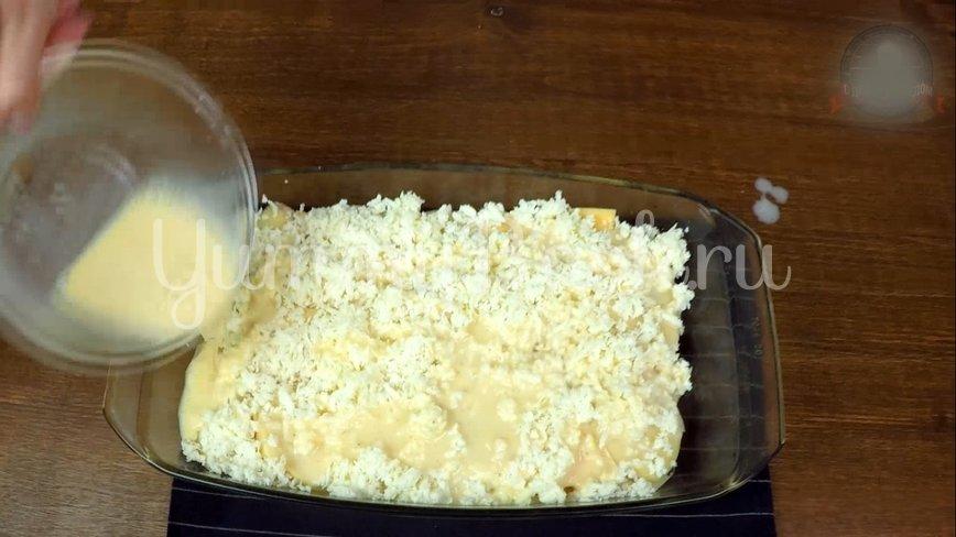Слоеная Картофельная запеканка с ветчиной и сыром - шаг 8