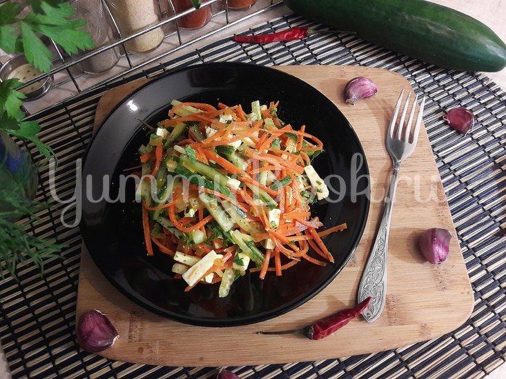 Салат с морковью по-корейски, огурцом и фетой - шаг 4
