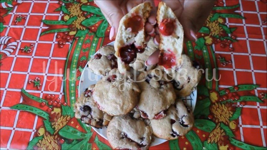 Домашнее печенье на сметане с вишней - шаг 7