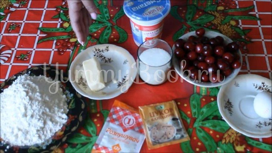 Домашнее печенье на сметане с вишней - шаг 1