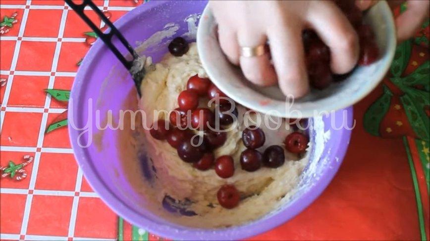 Домашнее печенье на сметане с вишней - шаг 5
