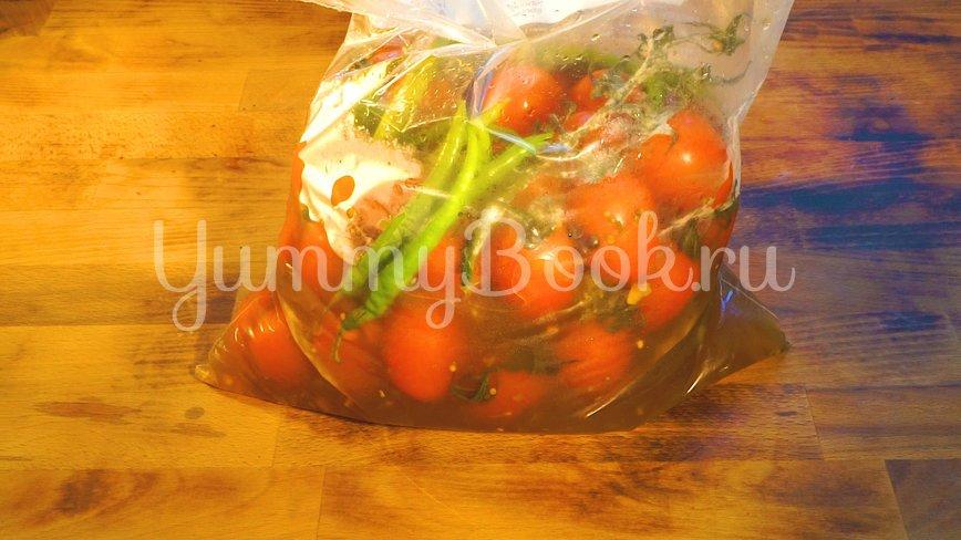 Бочковые помидоры в пакете - шаг 9