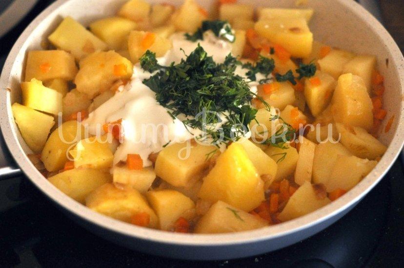 Картофель в сметане - шаг 4