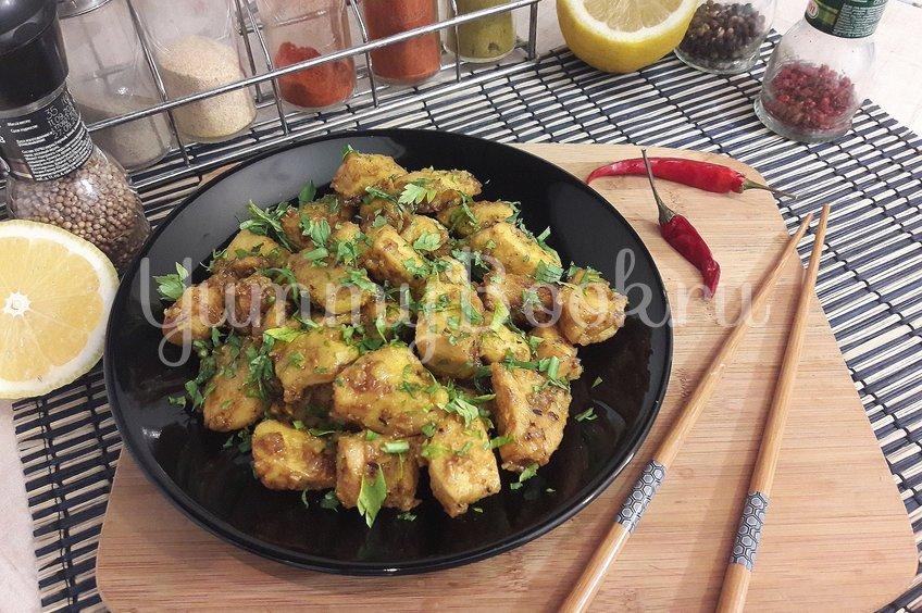 Куриное филе в горчично-медовой глазури