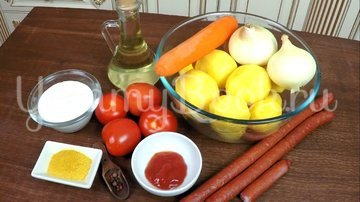 Охотничьи колбаски с картофелем в горшочках по-домашнему - шаг 1