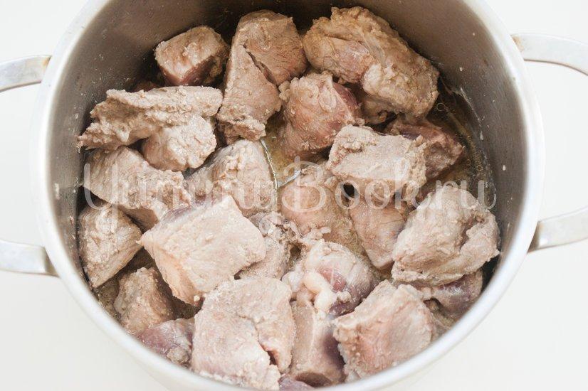 Мясо с баклажанами - шаг 2