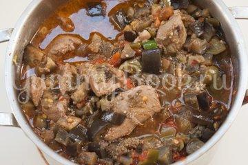 Мясо с баклажанами - шаг 8