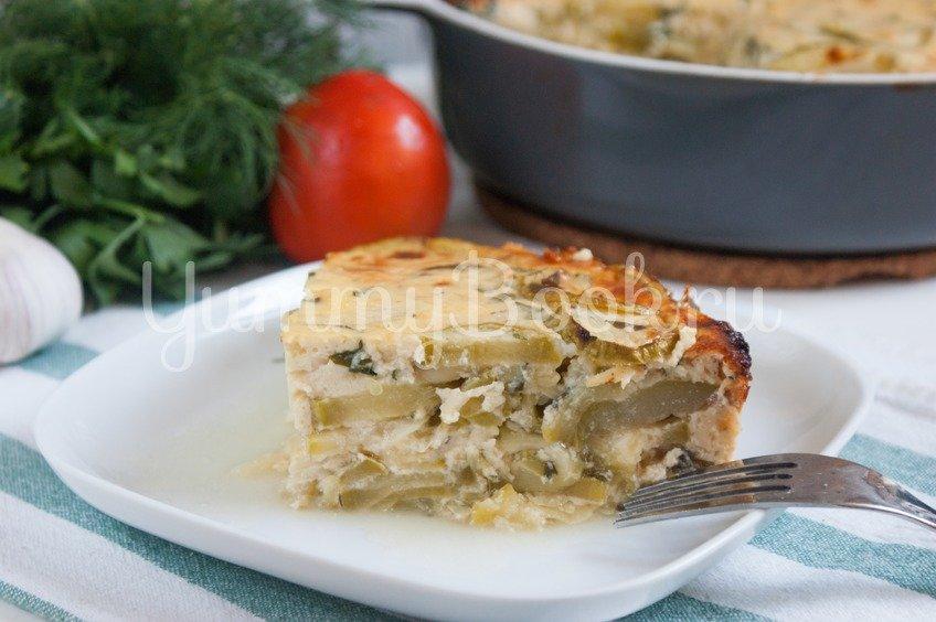 Кассероль из кабачков с плавленым сыром