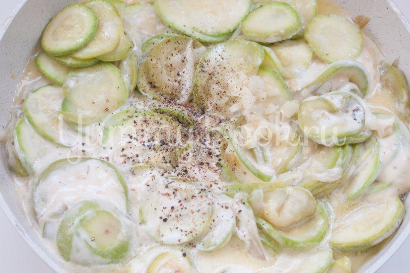 Кассероль из кабачков с плавленым сыром - шаг 5