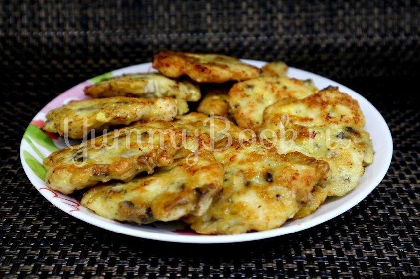 Котлеты из куриного филе и шампиньонов