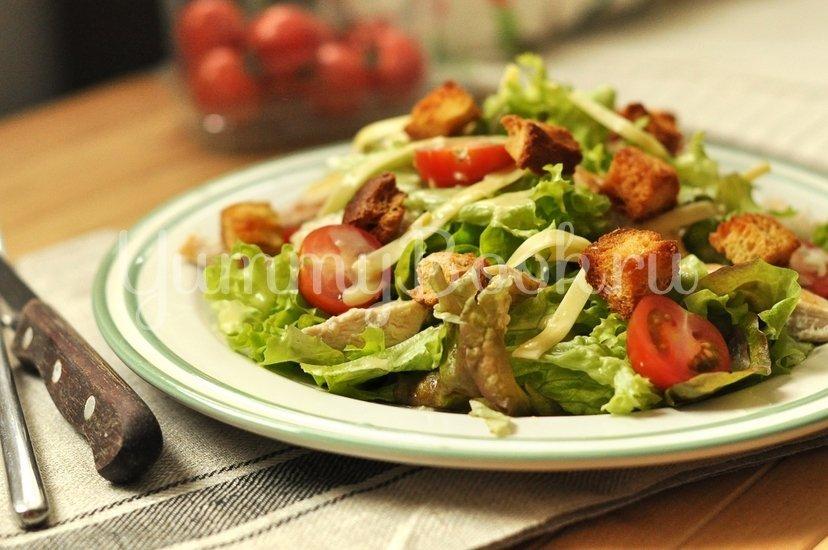 Салат Цезарь с курицей - шаг 9