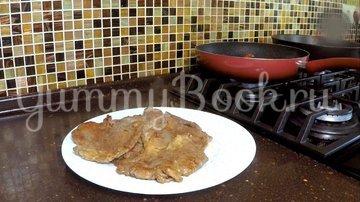 Отбивное мясо в соусе под пюре  - шаг 6