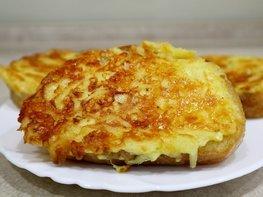 Горячие бутерброды с сыром и картофелем