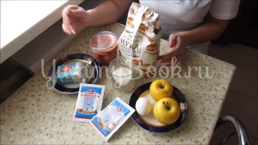Яблочное печенье на сметане  - шаг 1