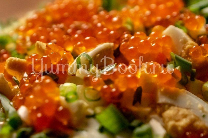 Картофельный салат с икрой