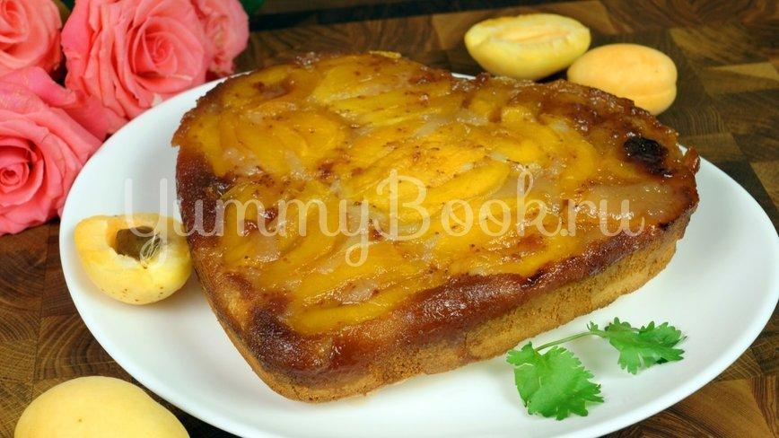 Пирог «Перевёртыш» с абрикосами  и  карамелью - шаг 14