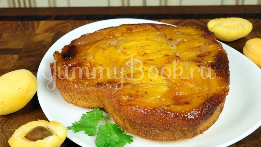 Пирог «Перевёртыш» с абрикосами  и  карамелью - шаг 13