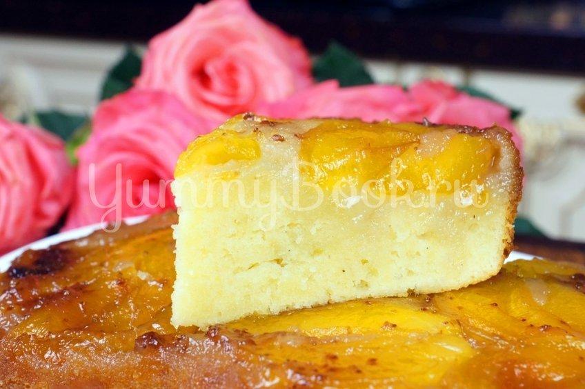 Пирог «Перевёртыш» с абрикосами  и  карамелью