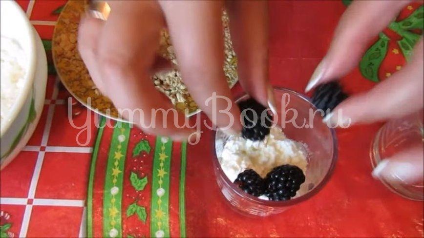 Творожный десерт с ежевикой  - шаг 5