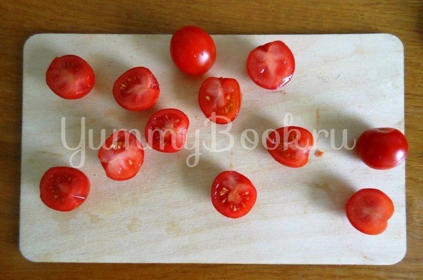 Тёплый салат из куриной печени и помидоров черри - шаг 6