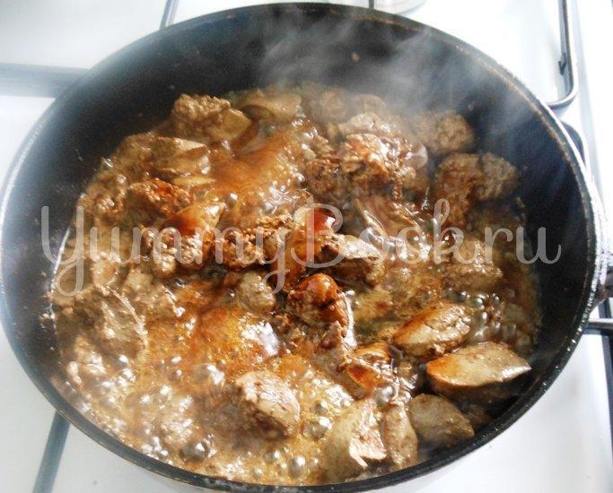 Тёплый салат из куриной печени и помидоров черри - шаг 4