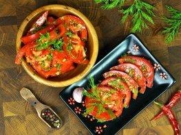 Закуска из помидоров в горчичном соусе